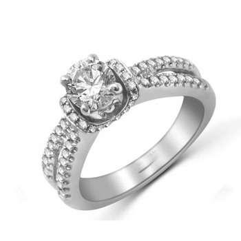 Signity Sterling Silver Sobha Ring