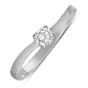 Signity Sterling Silver Vibhuti Ring