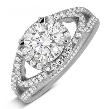 Signity Sterling Silver Vishakha Ring
