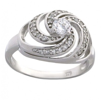 Signity Sterling Silver Purva Ring