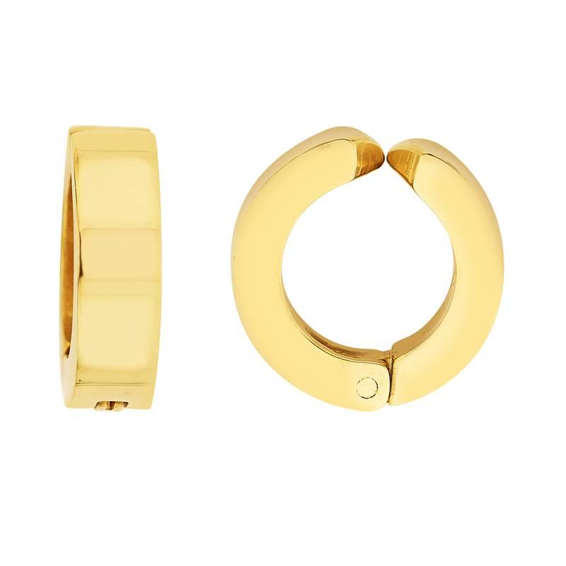 Buy Earrings Men Boys Studs Gold Plain Non Pierced Fashion Bali Online
