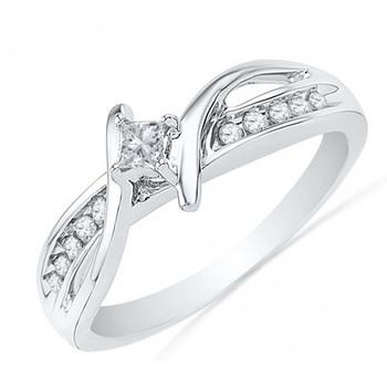 Signity Sterling Silver Runali Ring