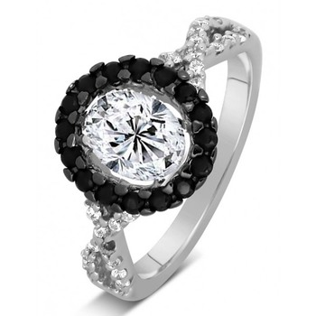 Signity Sterling Silver Namrata Ring