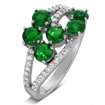 Signity Sterling Silver Pranali Ring
