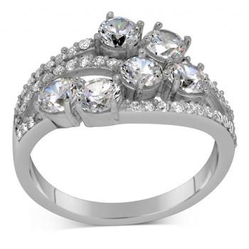 Signity Sterling Silver Kolkatta Ring