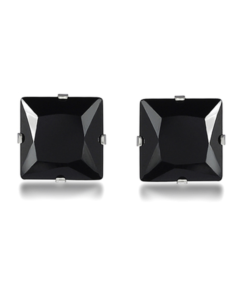 Piercing Black Stainless Steel Square Cz Diamond Fashion Bali Studs Earring For Men Boys Online