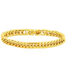 Buy Bracelet for Men Boys Gold Stainless Steel Short Link New Fashion men-bracelet online