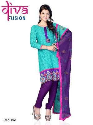 Party wear designer cotton salwar kameez