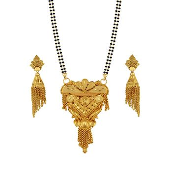Heena Antique golden mangalsutra set