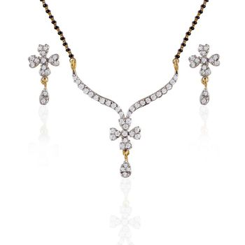 Heena Fashion Mangalsutra set with floral design