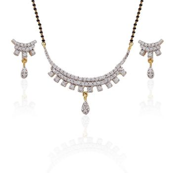 Heena Classic Mangalsutra set with AD stones