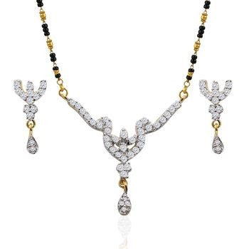 Heena Classic Mangalsutra set with AD stones