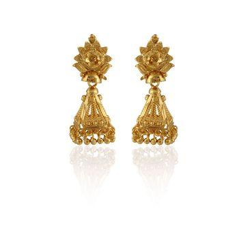 Heena Traditional Golden Earings >> HJER03 <<