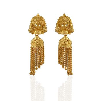 Heena Traditional Golden Earings