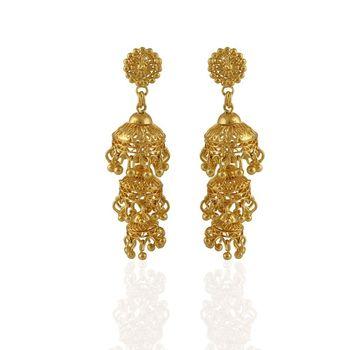 Heena Traditional Golden Earings >> HJER04 <<