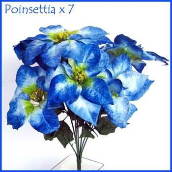 Velvet Poinsettia- 7 flowers bunch