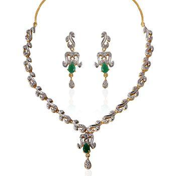 Heena Trendy Collection necklace Set
