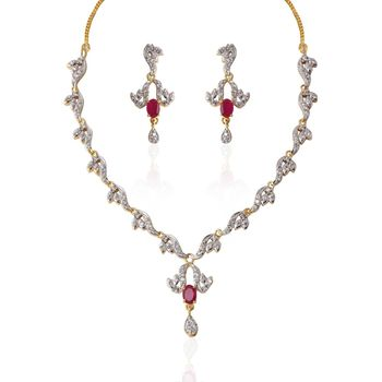 Heena Trendy Collection necklace Set
