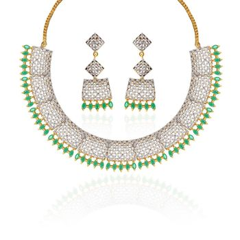 Heena Classic Collection Oval Necklace Set >> HJNL119G <<
