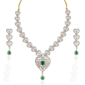 Heena Trendy Love Collection Necklace Set >> HJNL121G <<