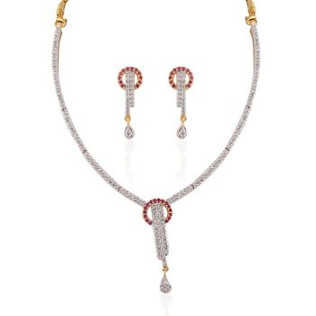 Heena Western Collection Necklace Set >> HJNL125R <<