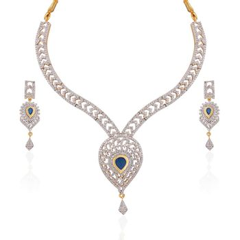 Heena Contemporary  Love collection Necklace set >> HJNL127BL <<