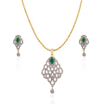 Heena Trendy Collection Pendent Set >> HJPN136G <<