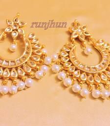 Buy amrapali gold foil big jhumkaas jhumka online