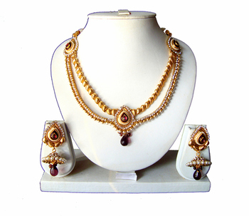 Indian Bollywood Gold Plated Necklace Set