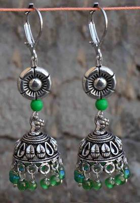 green fun-  jhumka redefined