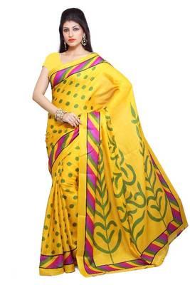 ISHIN Bhagalpuri Silk Yellow Saree ISHIN-802