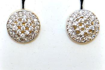 Round Ornate Diamond Studs