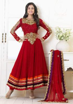 Long Anarkali Churidar Fabric SC5006