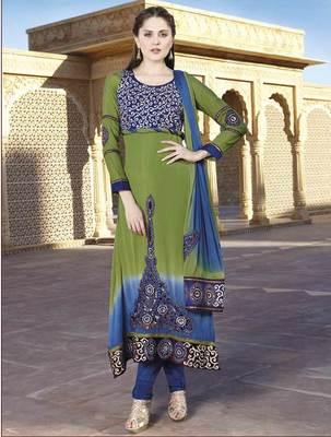 Green Salwar Kameez Churidar Dress Material SCA7192B