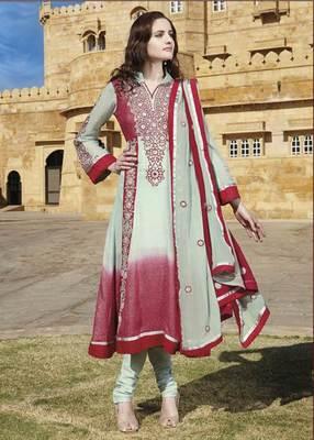 Pastel green Salwar Kameez Churidar Dress Material SCA7194B