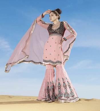 Dusty pink Salwar Kameez Churidar Dress Material SCA7197A