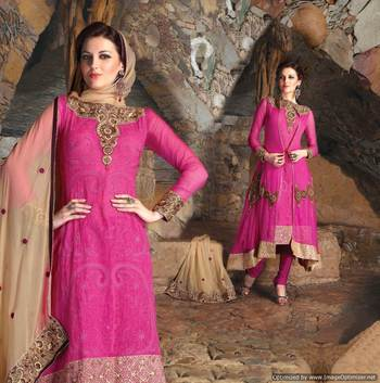 Heavy Embroidered Premium Fabrics Dress Material SC6500a