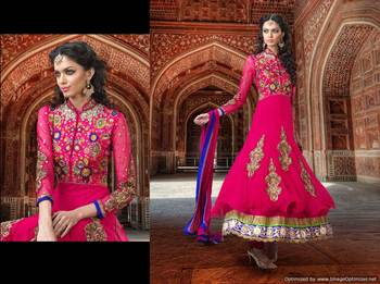Heavy Embroidered Premium Fabrics Dress Material SC1517a