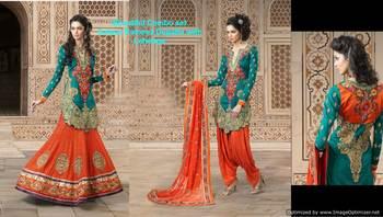 Heavy Embroidered Premium Fabrics Dress Material SC1526