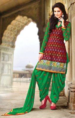 Designer  Magenta Patiala Salwar Kameez Dupatta Dress Material SC5610