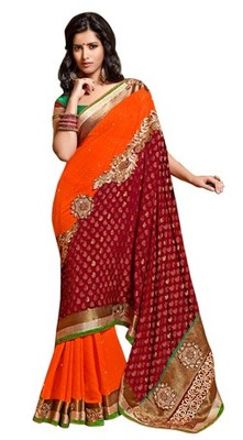Triveni Indian Traditional Admirable Viscose Georgette Dual Color Saree