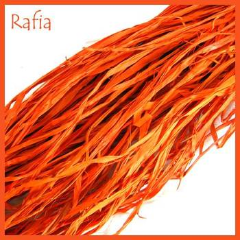 Natural Rafia Orange (100 Gms)