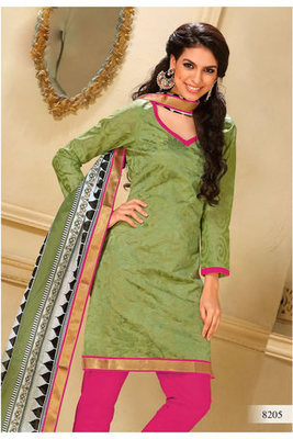 Casual Wear Green Dress Material