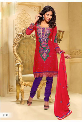 Casual Wear Red Dress Material