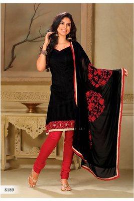 Casual Wear Black Dress Material