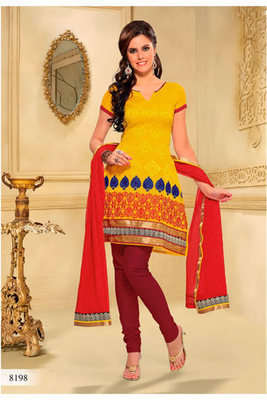 Casual Wear Yellow Dress Material