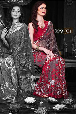 Printed Casual Wear Saree With Blouse