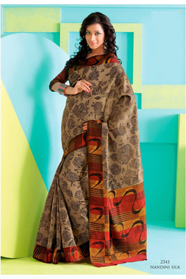 Gorgeous Beige Raw Silk Saree