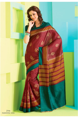Gorgeous Red Raw Silk Saree