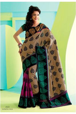 Gorgeous Black Raw Silk Saree